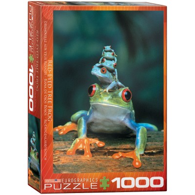 Puzzle Eurographics Rana de Ojos Rojos de 1000 Piezas