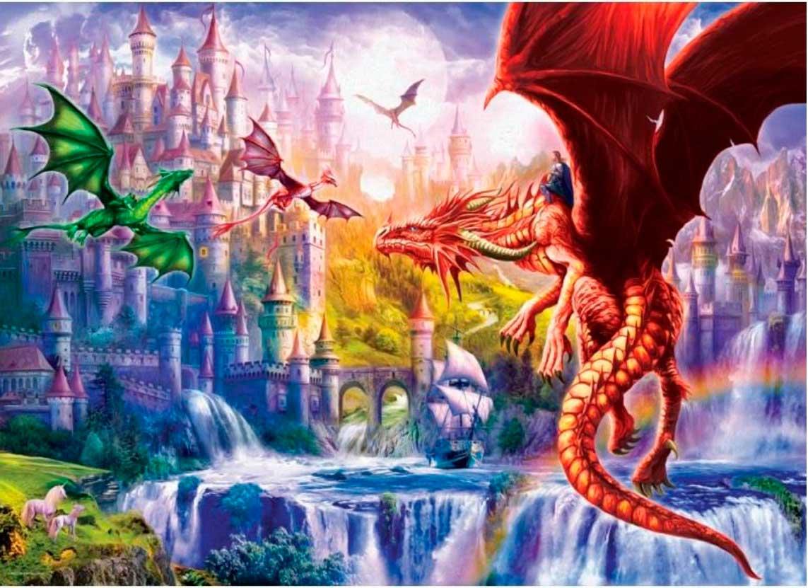 Puzzle Eurographics Reino de Dragones de 500 Piezas