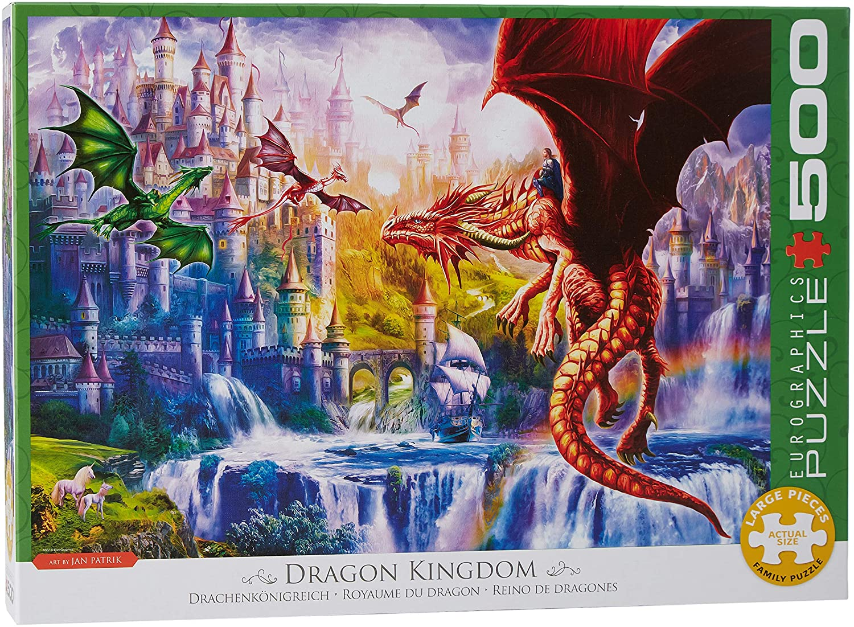 Puzzle Eurographics Reino de Dragones XXL de 500 Piezas