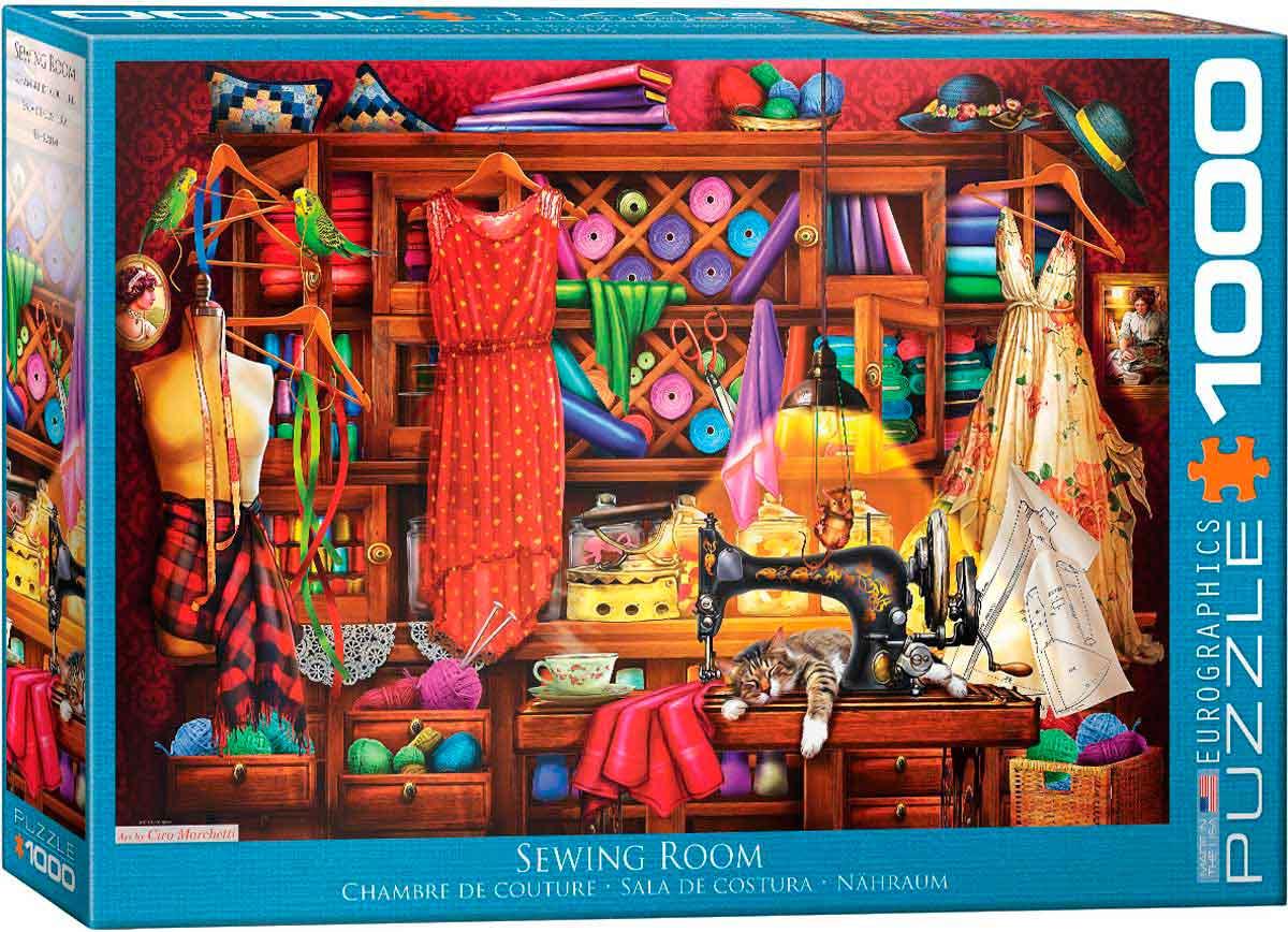 Puzzle Eurographics Sala de Costura de 1000 Piezas