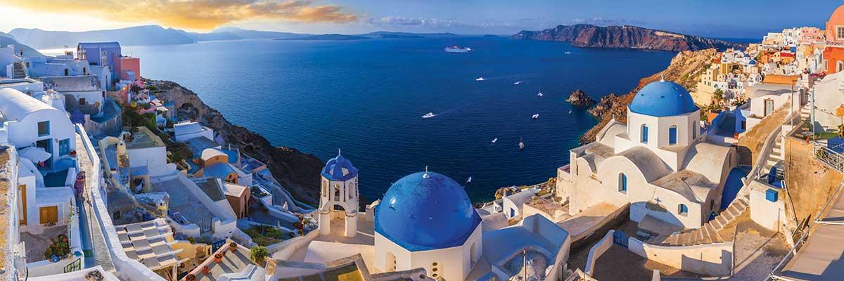 Puzzle Eurographics Santorini, Grecia de 1000 Piezas