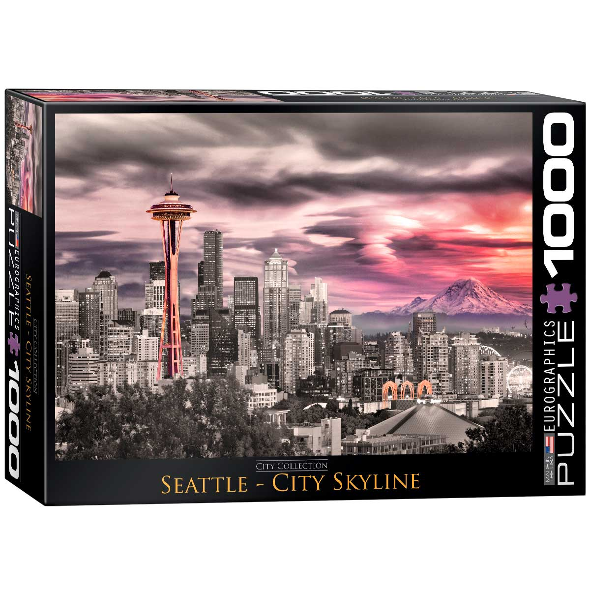Puzzle Eurographics Seattle Skyline de 1000 Piezas
