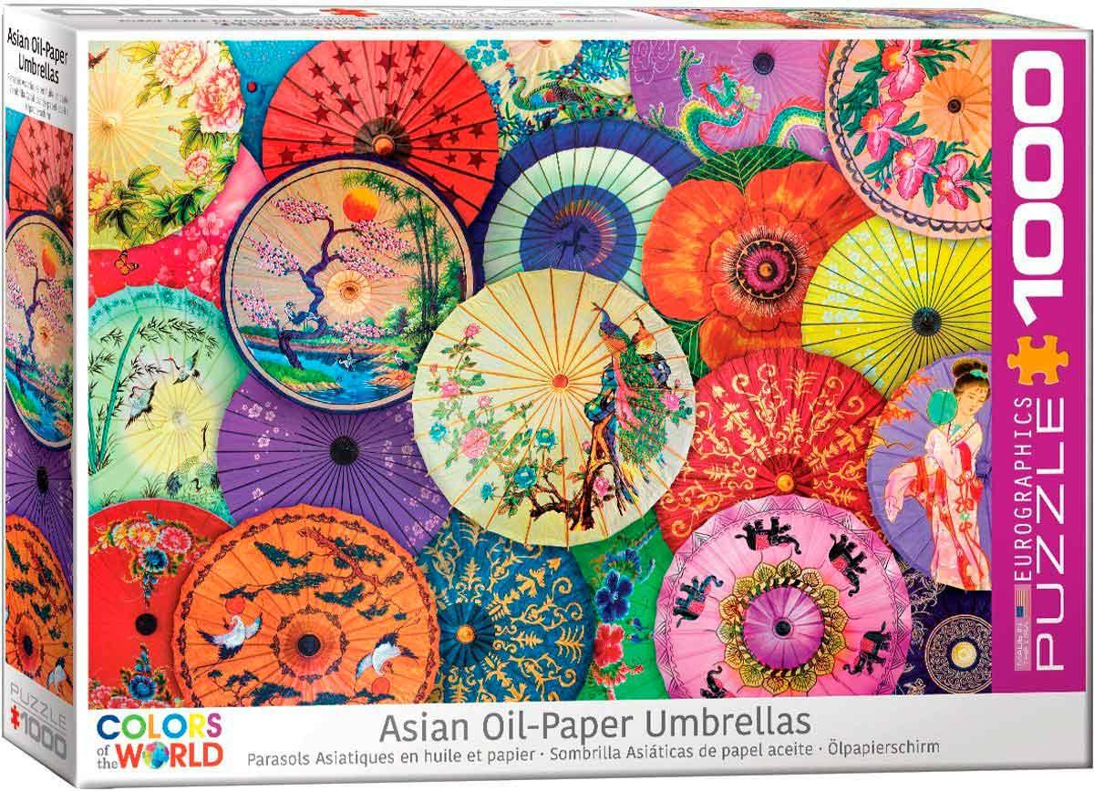 Puzzle Eurographics Sombrillas Asiáticas de 1000 Piezas