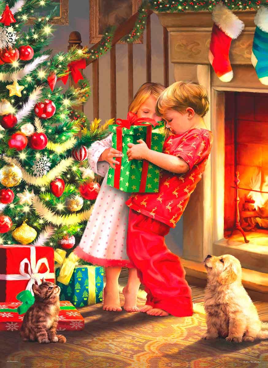 Puzzle Eurographics Sorpresa de Navidad de 1000 Piezas