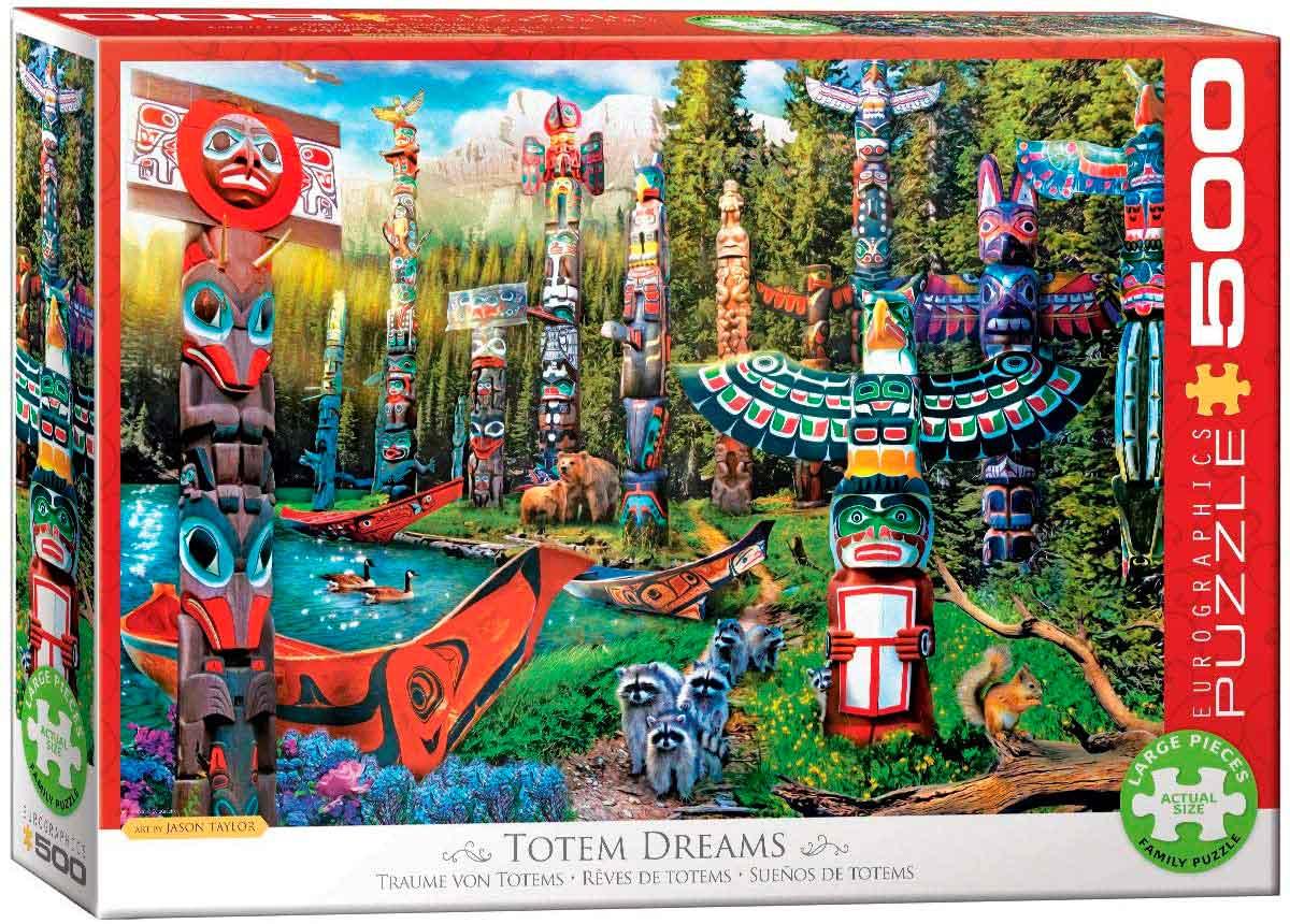 Puzzle Eurographics Sueños de Totems XXL de 500 Piezas