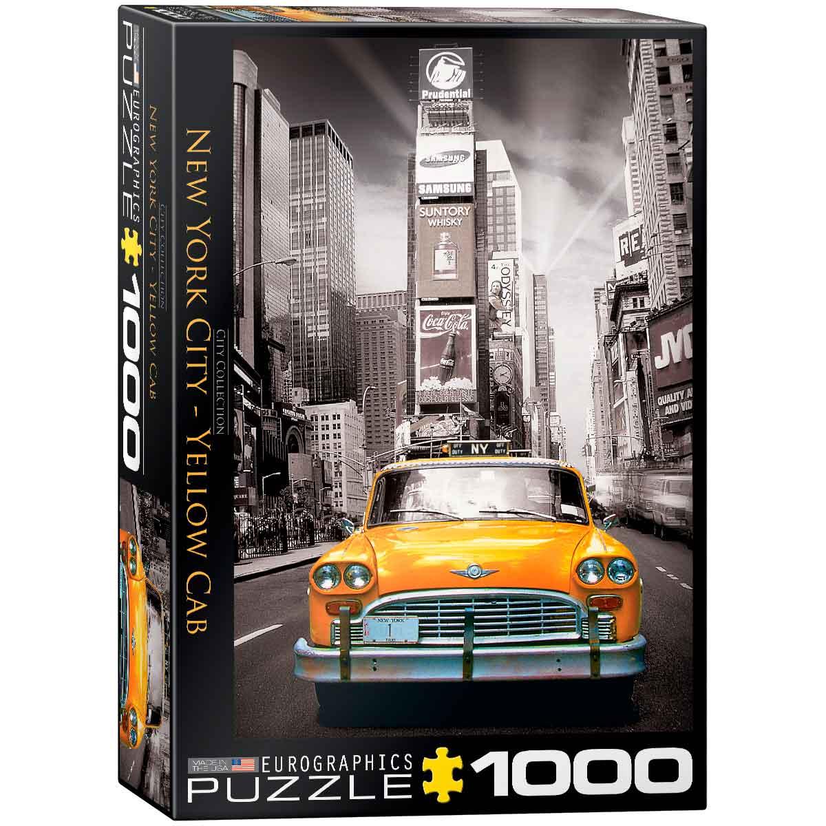 Puzzle Eurographics Taxi en Nueva York de 1000 Piezas
