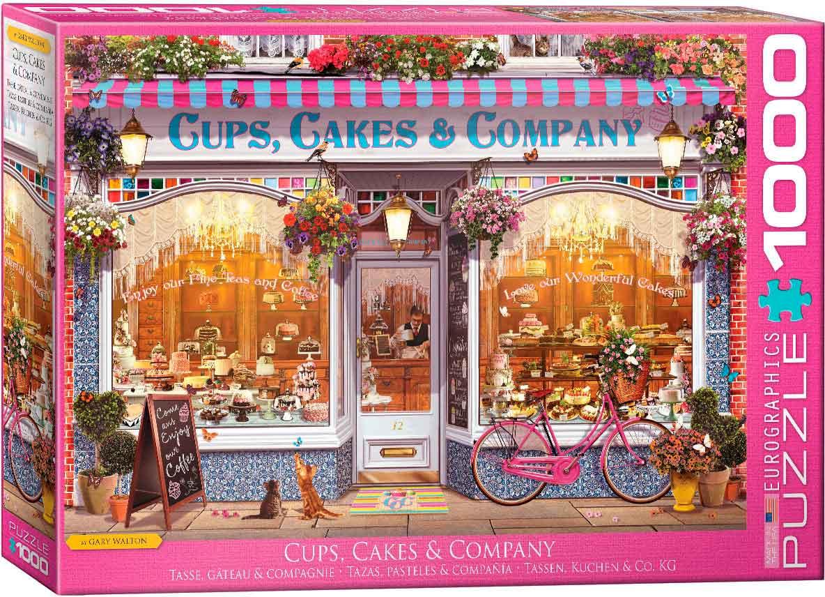 Puzzle Eurographics Tazas, Pasteles y Compañía de 1000 Piezas