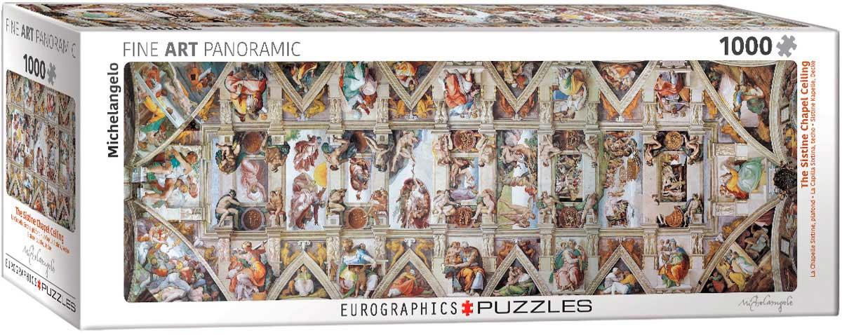 Puzzle Eurographics Techo de la Capilla Sixtina de 1000 Piezas