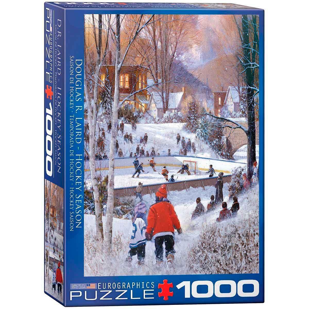 Puzzle Eurographics Temporada de Hockey de 1000 Piezas