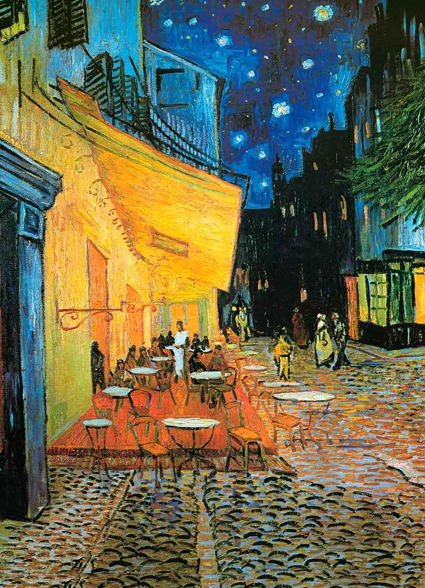 Puzzle Eurographics Terraza de Café por la Noche, 1000 Piezas