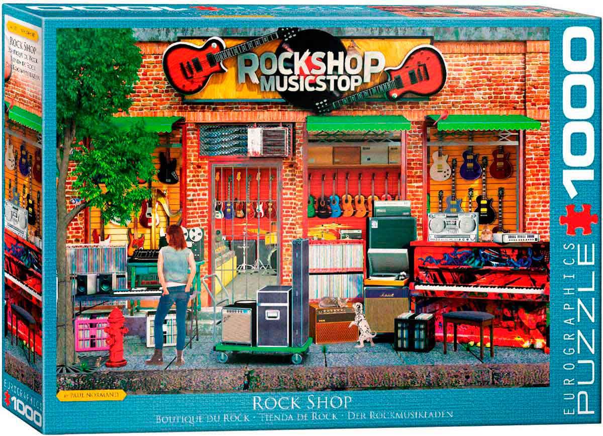 Puzzle Eurographics Tienda de Rock de 1000 Piezas