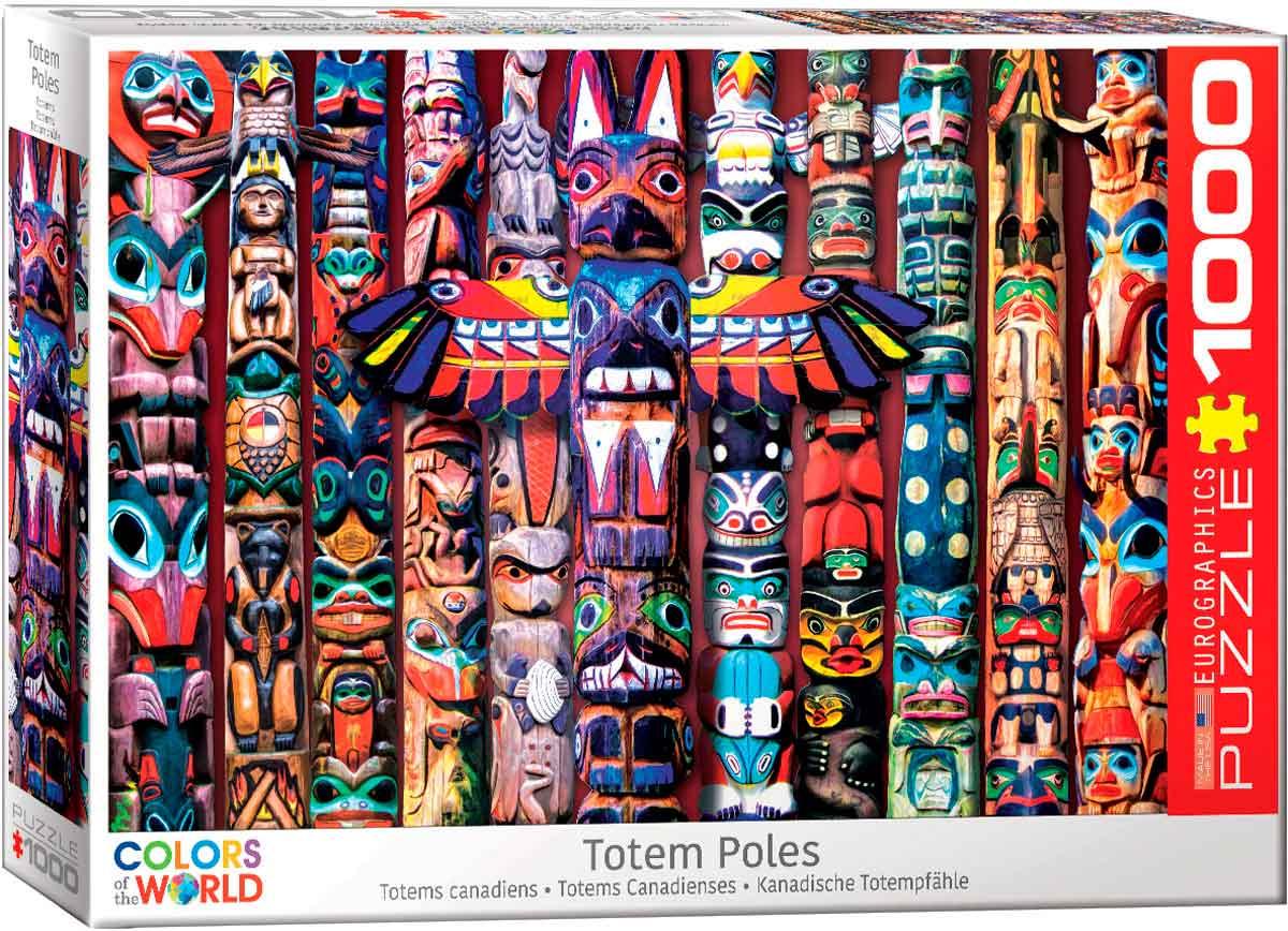 Puzzle Eurographics Totems Canadienses de 1000 Piezas
