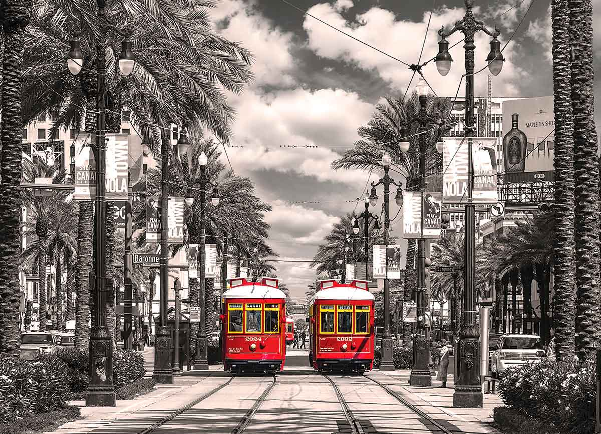 Puzzle Eurographics Tranvías de Nueva Orleans de 1000 Piezas