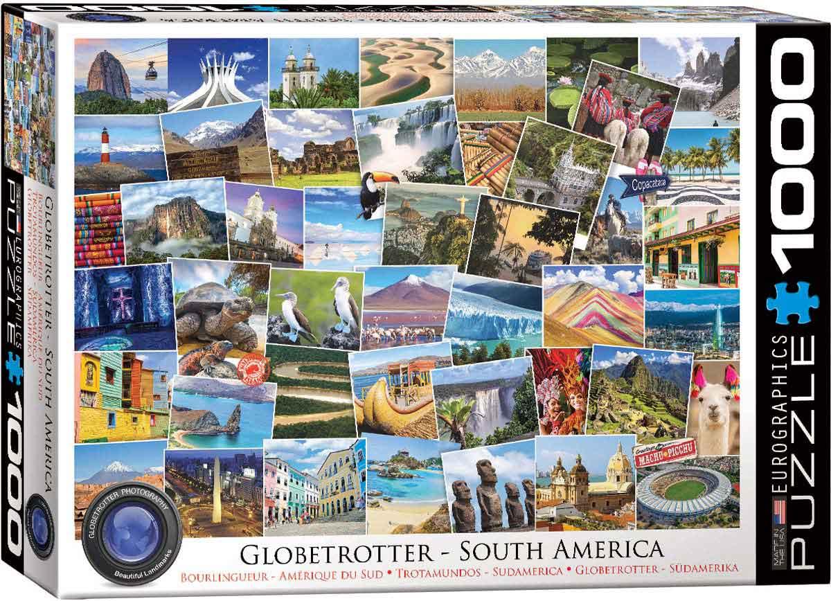 Puzzle Eurographics Trotamundos América del Sur de 1000 Pzs