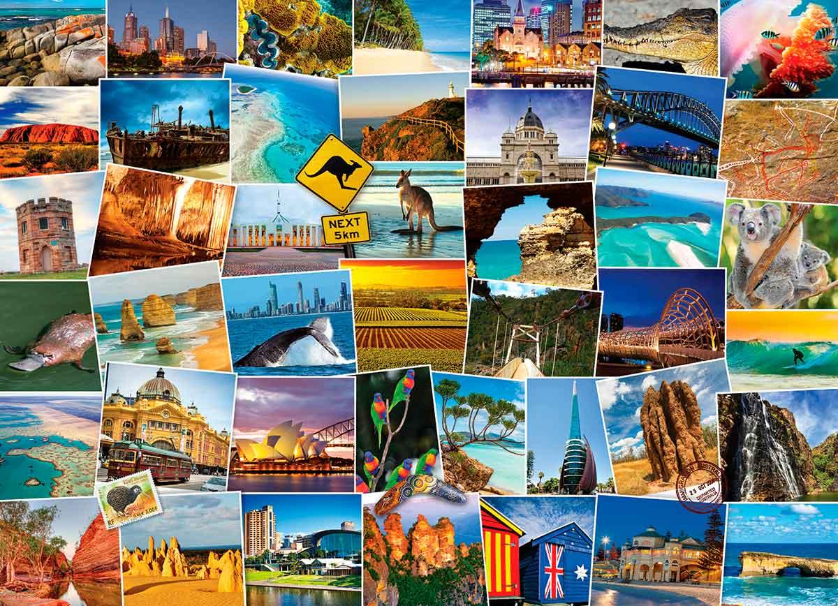Puzzle Eurographics Trotamundos: Australia de 1000 Piezas