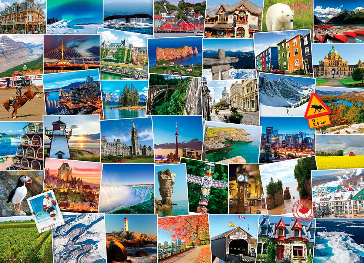 Puzzle Eurographics Trotamundos: Canadá de 1000 Piezas