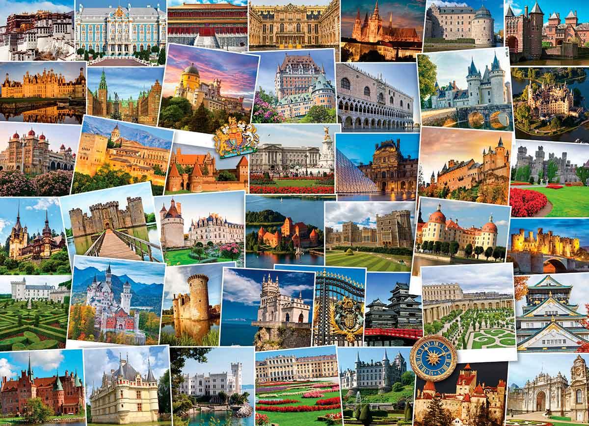 Puzzle Eurographics Trotamundos:Castillos y Palacios 1000 Piezas