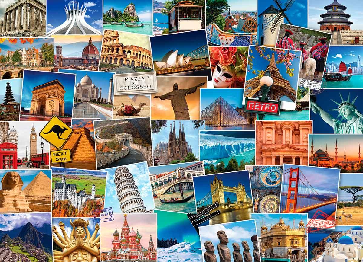 Puzzle Eurographics Trotamundos: El Mundo de 1000 Piezas