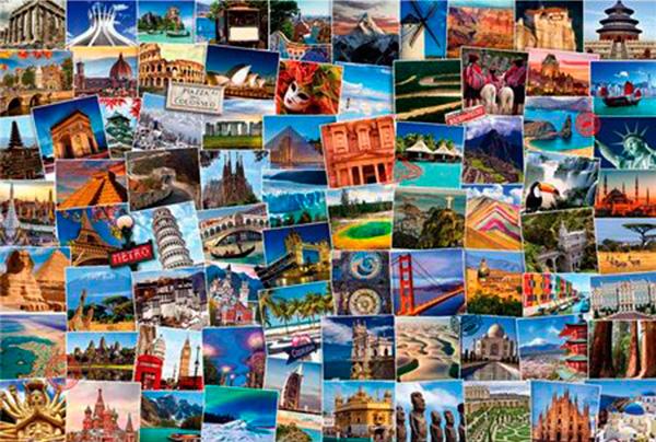 Puzzle Eurographics Trotamundos El Mundo de 2000 Piezas