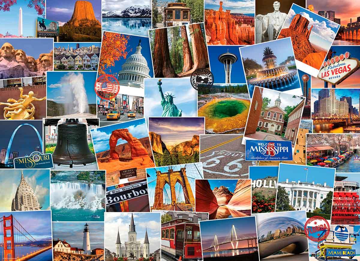 Puzzle Eurographics Trotamundos: Estados Unidos de 1000 Piezas