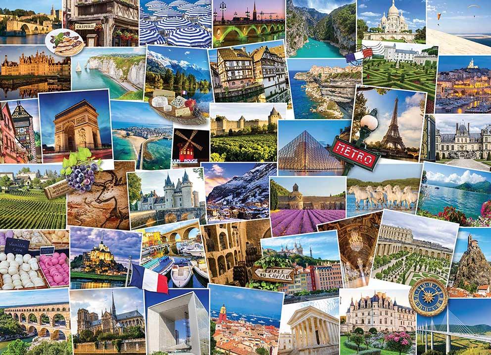 Puzzle Eurographics Trotamundos Francia de 1000 Piezas