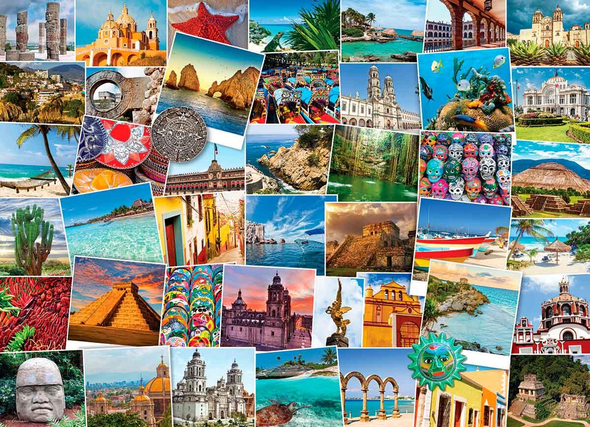 Puzzle Eurographics Trotamundos: México de 1000 Piezas