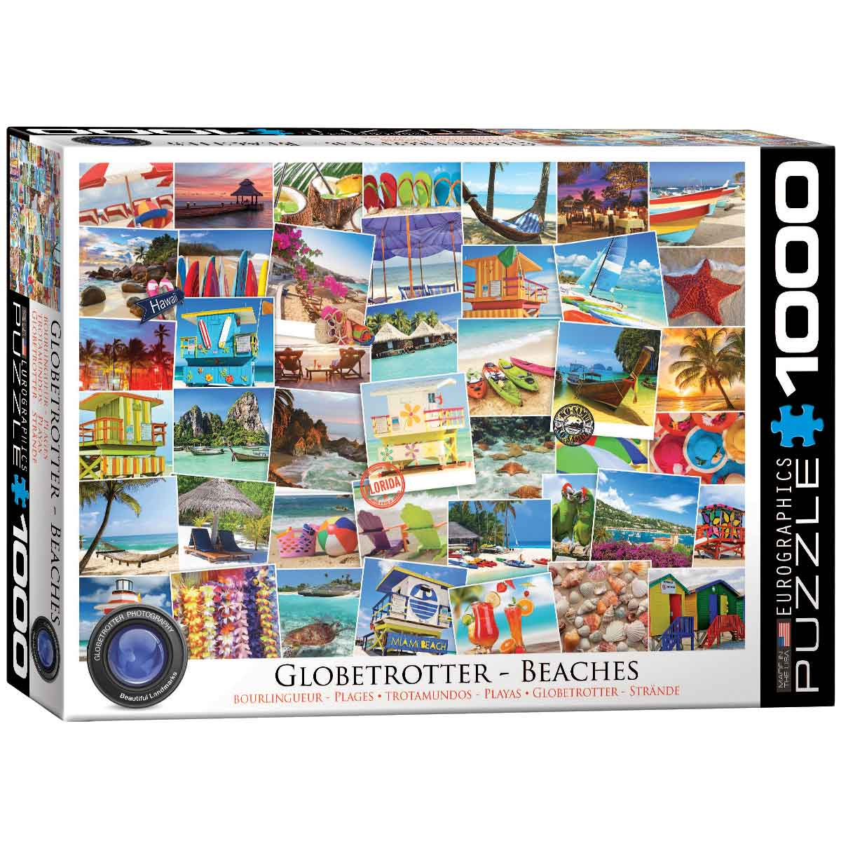 Puzzle Eurographics Trotamundos: Playas de 1000 Piezas
