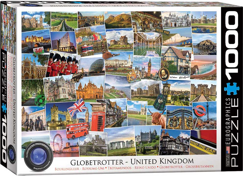 Puzzle Eurographics Trotamundos Reino Unido de 1000 Piezas