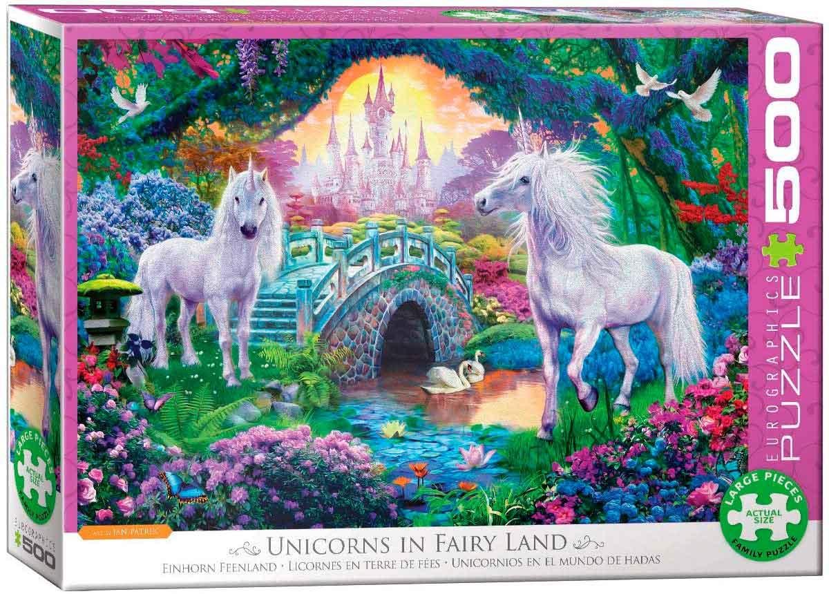 Puzzle Eurographics Unicornios en el Mundo de Hadas XXL 500p