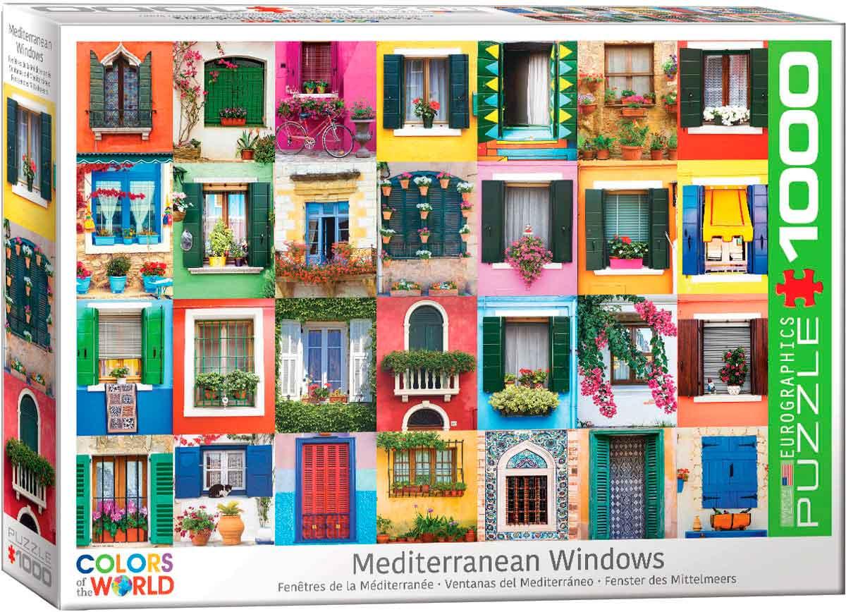 Puzzle Eurographics Ventanas del Mediterráneo de 1000 Piezas