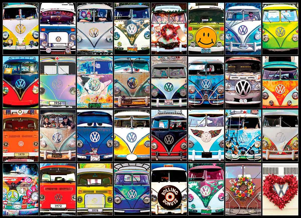 Puzzle Eurographics Volkswagen Caras Geniales, 1000 Piezas