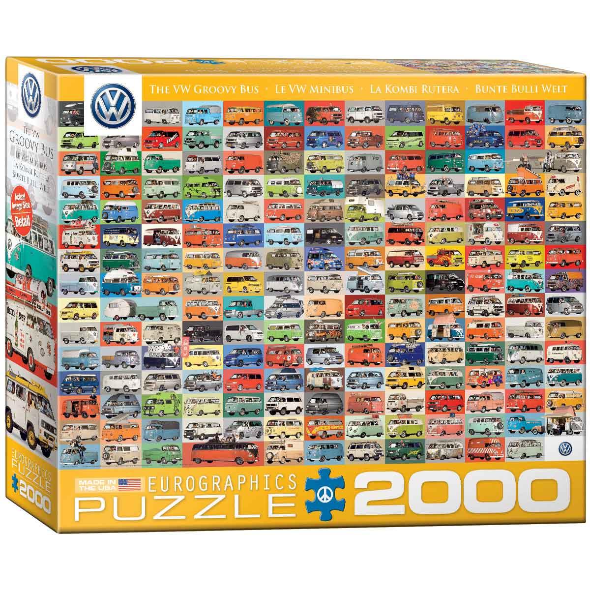 Puzzle Eurographics Volkswagen Kombi Rutera de 2000 Piezas