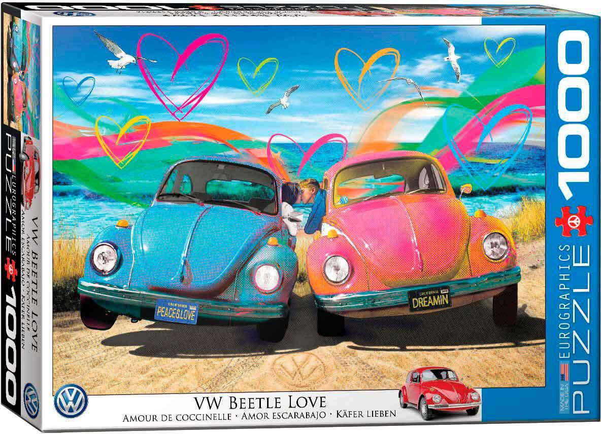 Puzzle Eurographics VW Amor Escarabajo de 1000 Piezas