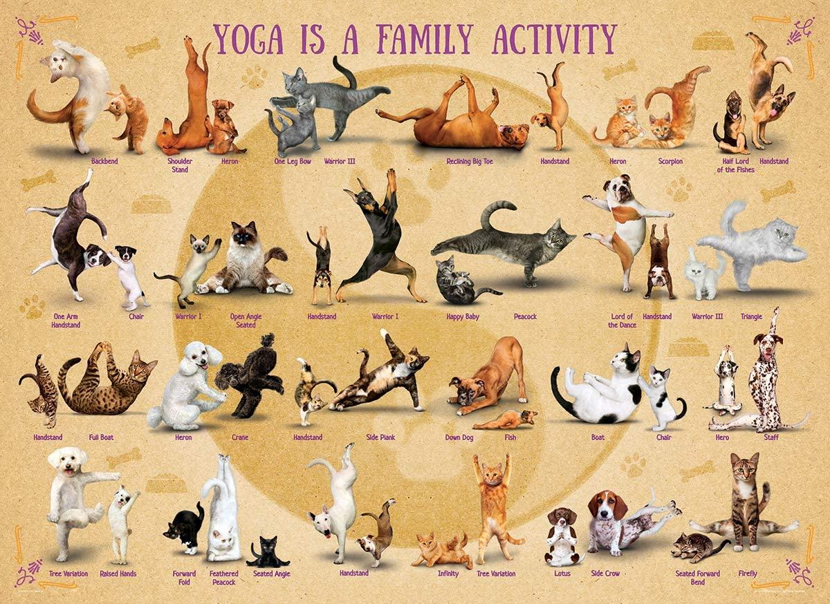 Puzzle Eurographics Yoga Actividad Familiar XXL de 500 Pzs