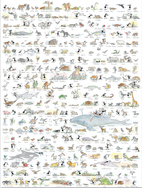 Puzzle Fabio Vettori Animales de 1080 Piezas