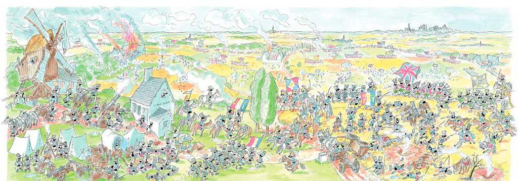Puzzle Fabio Vettori Batalla de Waterloo de 1080 Piezas