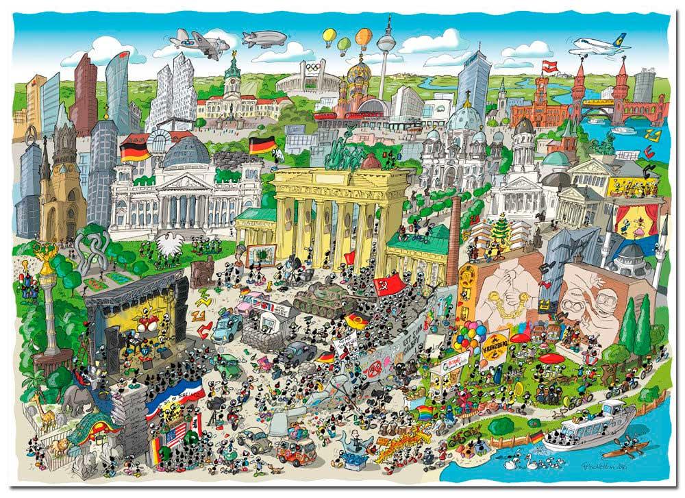 Puzzle Fabio Vettori Berlín de 1080 Piezas