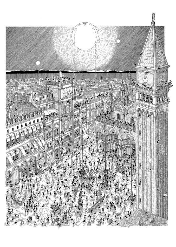 Puzzle Fabio Vettori Carnaval de Venecia de 1080 Piezas