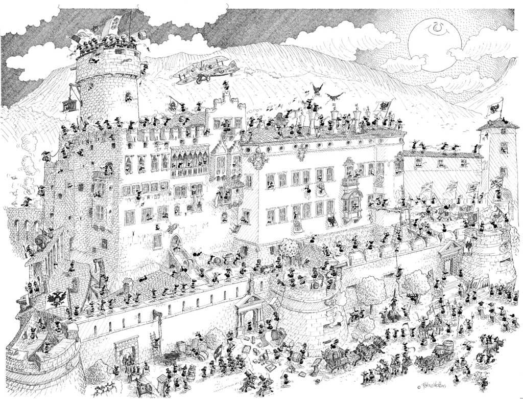 Puzzle Fabio Vettori Castillo Medieval de 1080 Piezas