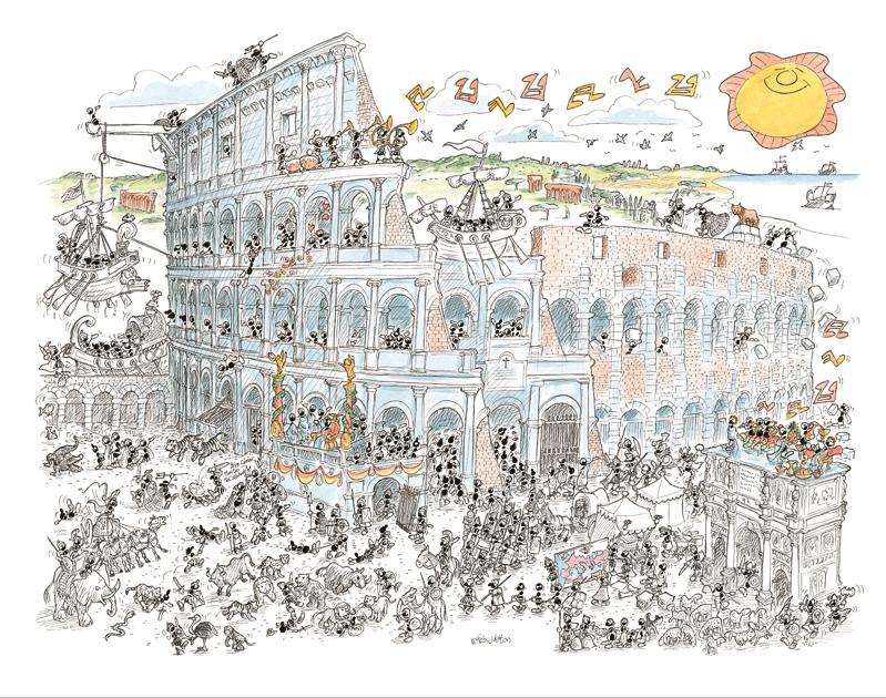 Puzzle Fabio Vettori Coliseo de 1080 Piezas