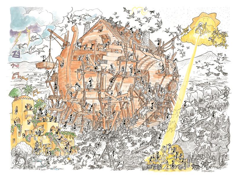Puzzle Fabio Vettori El Arca de Noé de 1080 Piezas
