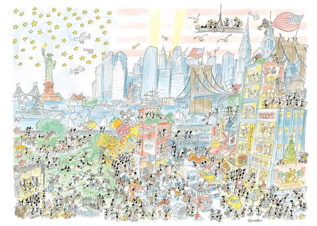 Puzzle Fabio Vettori Nueva York de 1080 Piezas
