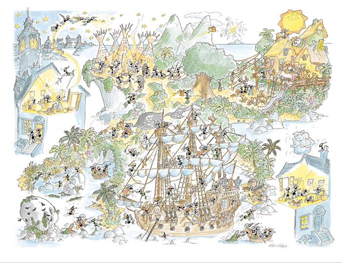 Puzzle Fabio Vettori Peter Pan de 1080 Piezas