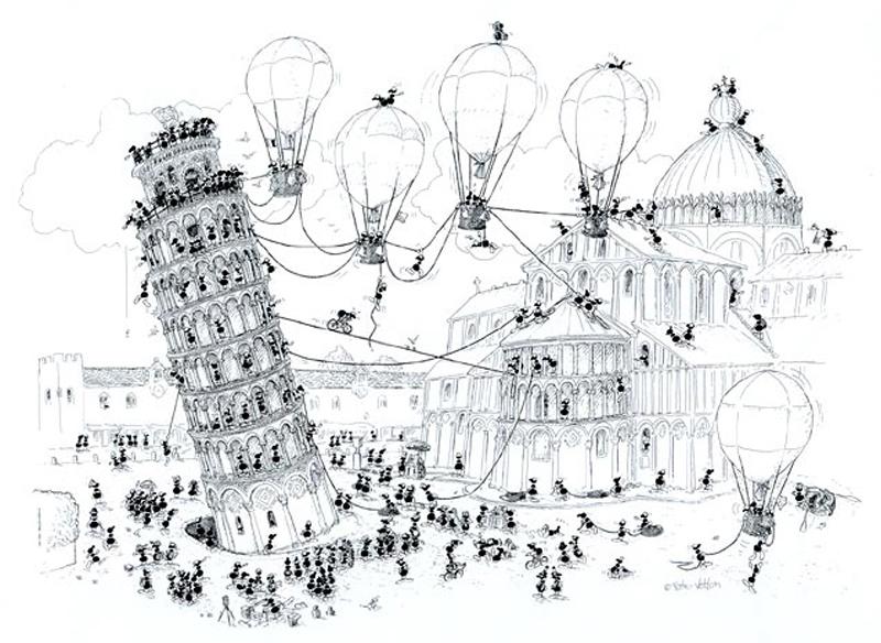 Puzzle Fabio Vettori Pisa en Globo de 1080 Piezas