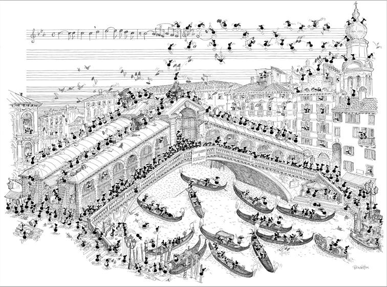 Puzzle Fabio Vettori Puente Rialto de 1080 Piezas