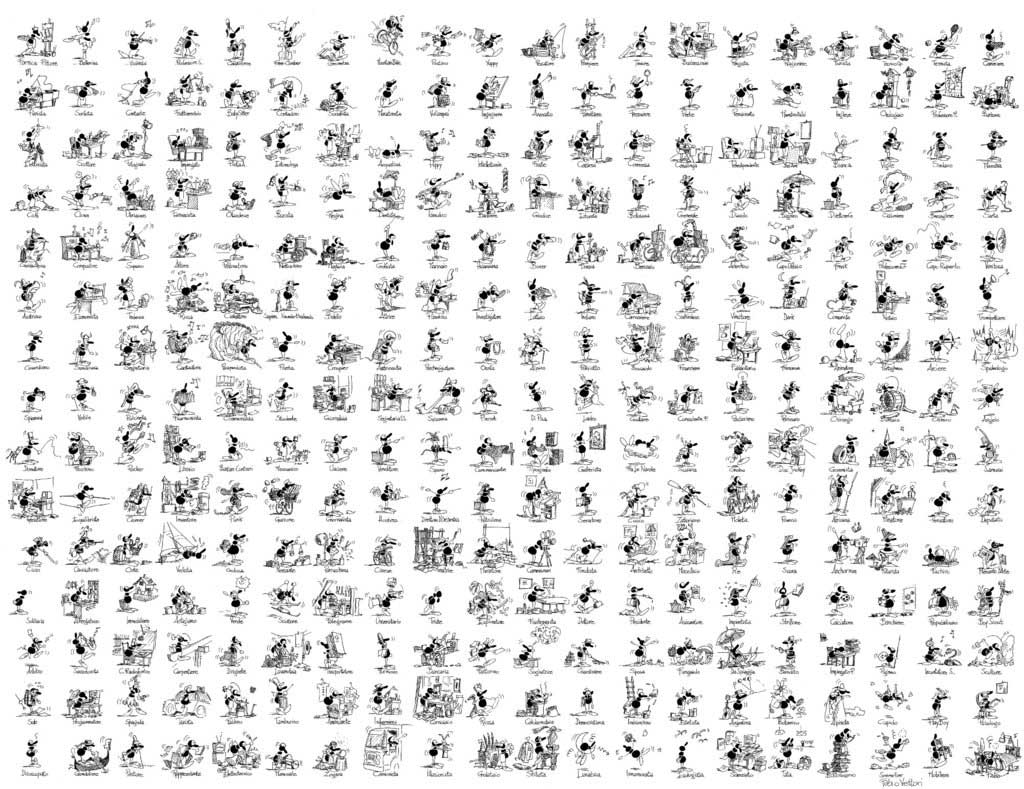 Puzzle Fabio Vettori Razas de 1080 Piezas