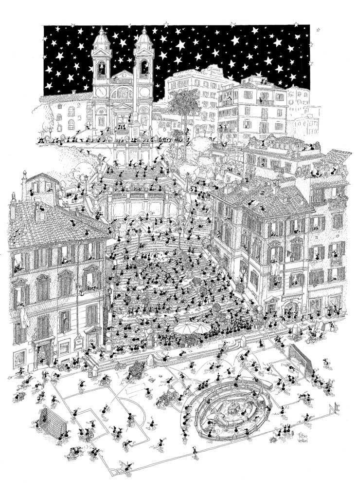 Puzzle Fabio Vettori Roma de 1080 Piezas