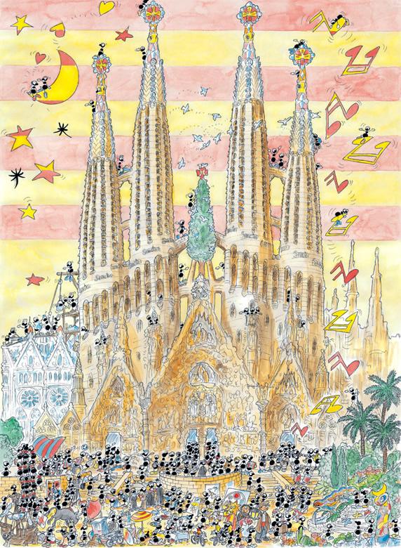 Puzzle Fabio Vettori Sagrada Familia, Barcelona de 1080 Piezas