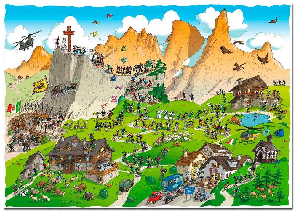 Puzzle Fabio Vettori Trekking de 1080 Piezas