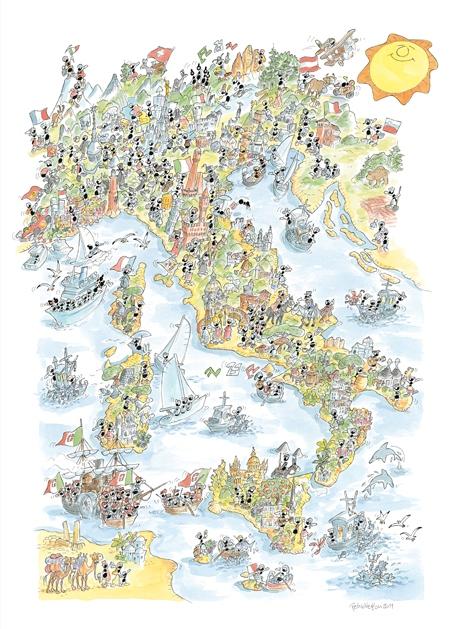 Puzzle Fabio Vettori Unidad de Italia de 1080 Piezas